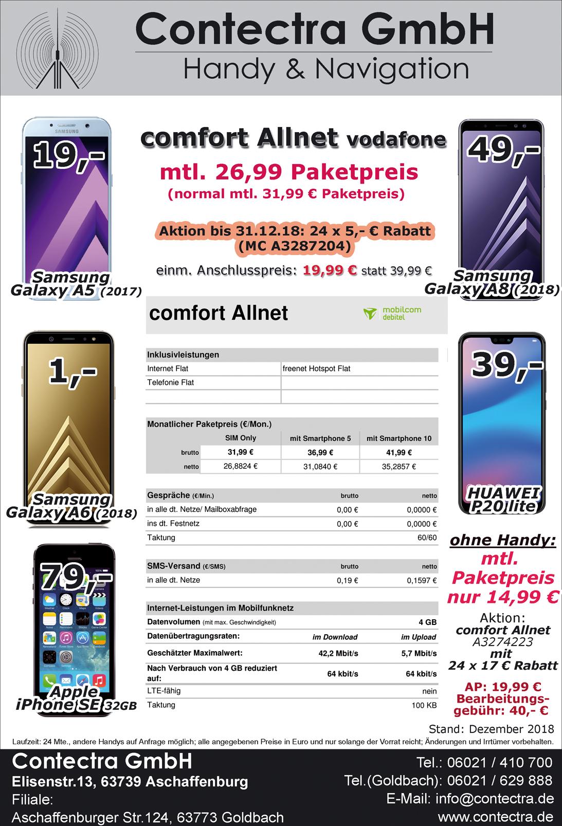 Comfort Allnet vodafone Dez18